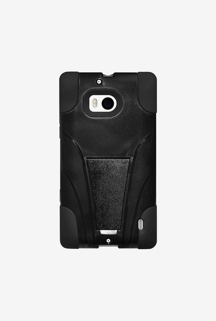 Amzer Dual Layer Hybrid KickStand Case Black for Lumia 929