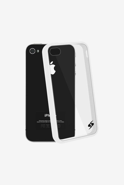 Amzer SlimGrip Hybrid Case White for iPhone 4S
