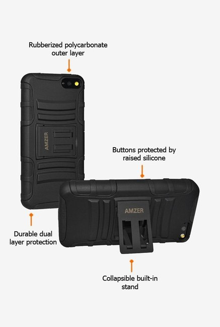 Amzer Hybrid Kickstand Case Black for Amazon Fire Phone