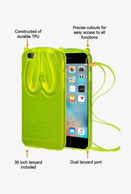 Amzer TPU Case With Rabbit Ears Green for iPhone 6