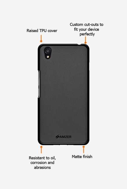 Amzer Pudding TPU Case Black for OnePlus X