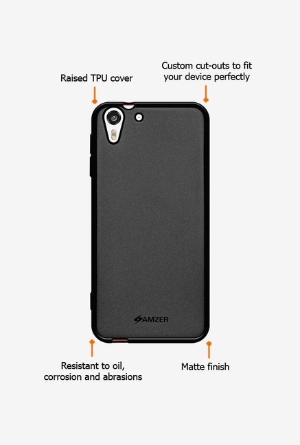 Amzer Pudding TPU Case Black for HTC Desire Eye