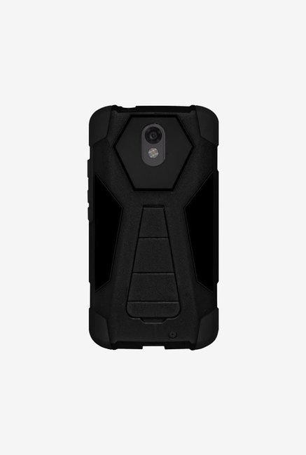 Amzer Dual Layer Hybrid Case Black for Motorola DROID Turbo2
