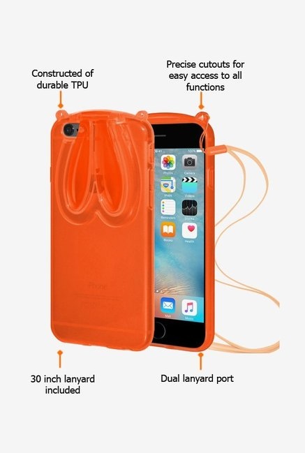 Amzer TPU Case With Rabbit Ears Orange for iPhone 6+