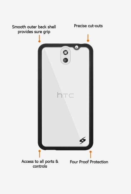 Amzer SlimGrip Hybrid Case Black for HTC Desire 610