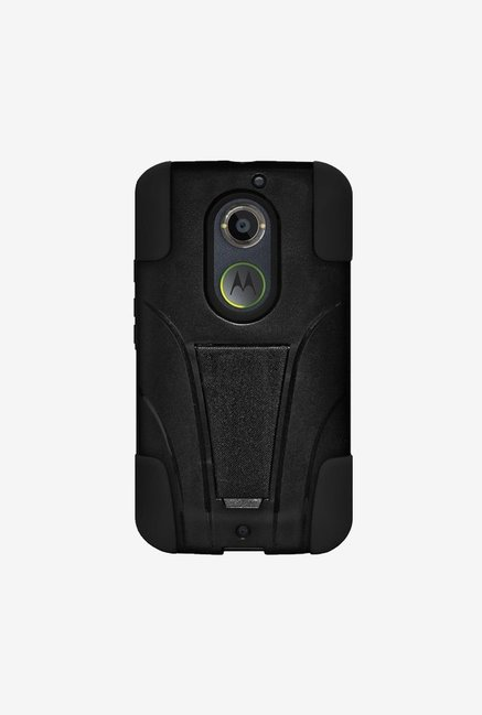 Amzer Dual Layer Hybrid KickStand Case Black for Moto X