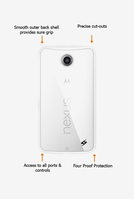 Amzer SlimGrip Hybrid Case White for Nexus 6