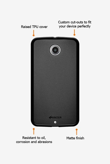 Amzer Pudding TPU Case Black for Nexus 6