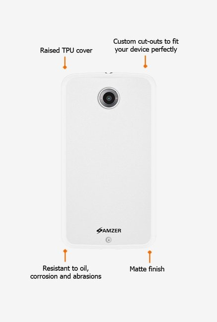Amzer Pudding TPU Case White for Nexus 6