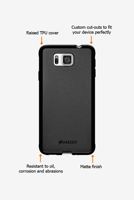 Amzer Pudding TPU Case Black for Samsung Alpha