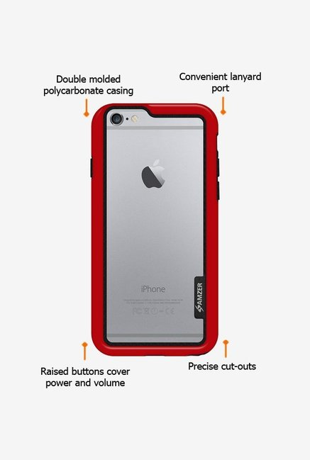 Amzer Border Case Red for iPhone 6