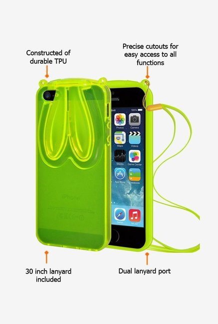 Amzer TPU Case With Rabbit Ears Green for iPhone 5