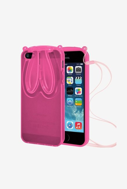 Amzer TPU Case With Rabbit Ears Pink for iPhone 5