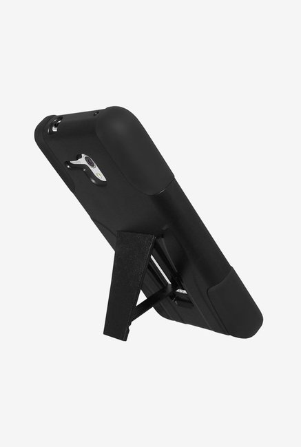Amzer Dual Layer Hybrid Case Black for OneTouch Fierce XL