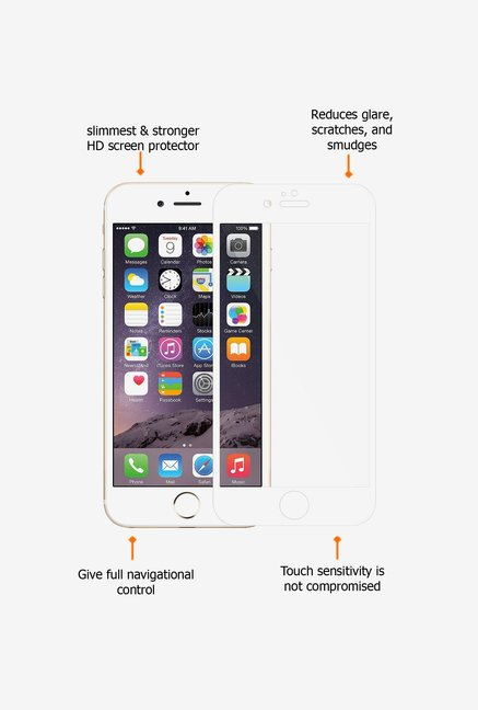 Amzer Kristal Edge2Edge Screen Protector White for iPhone 6+