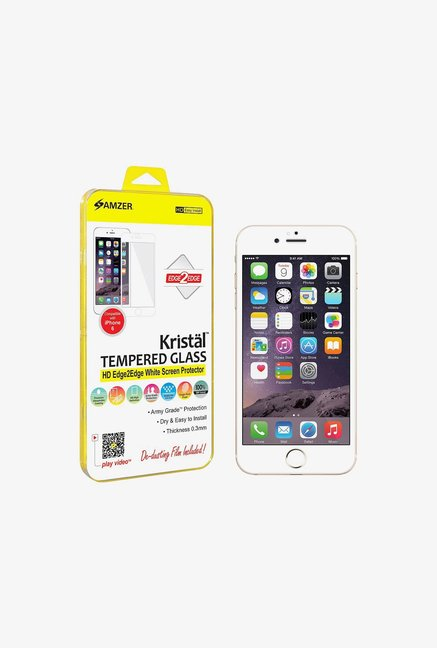 Amzer Kristal Tempered Glass White for iPhone 6+