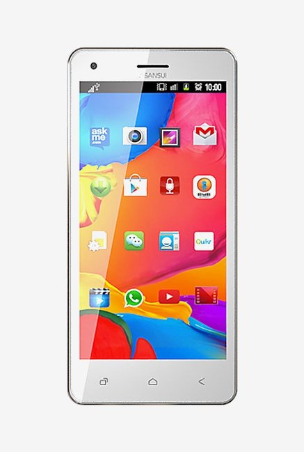Sansui U55 8GB Dual Sim (White & Gold)