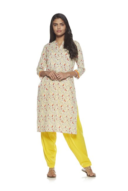 Utsa Yellow Solid Salwar