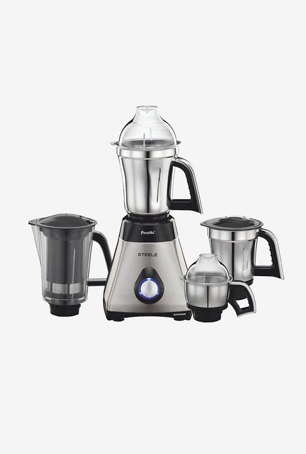 Preethi Steele Supreme MG208 750W Mixer Grinder Silver