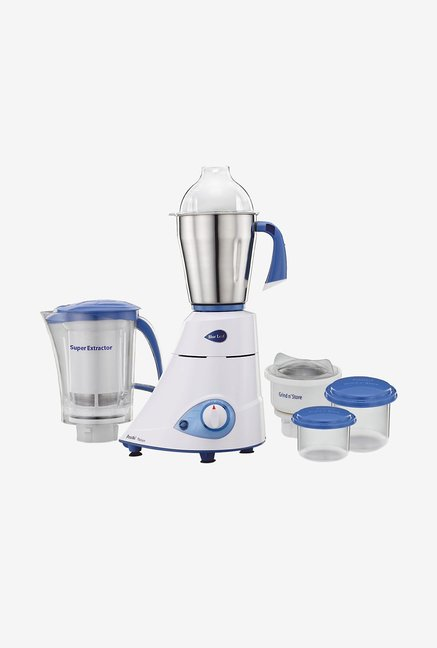 Preethi Blue Leaf Platinum MG153 550 W 3 Jars Mixer Grinder (White)