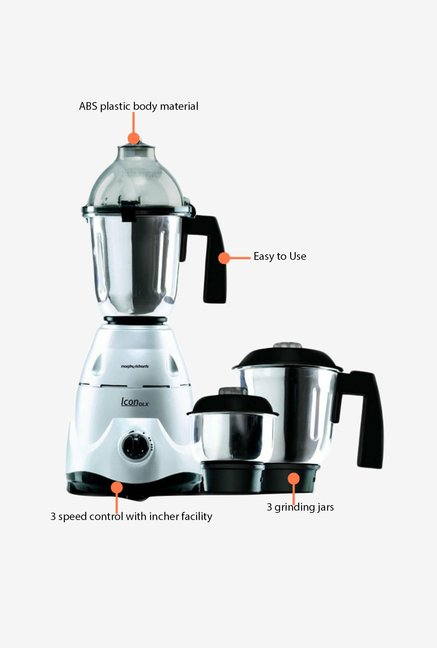 Morphy Richards Icon 1.5 L Deluxe Mixer Grinder Silver