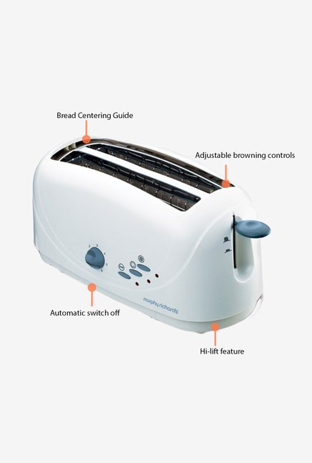 Morphy Richards AT-401 Pop Up Toaster White