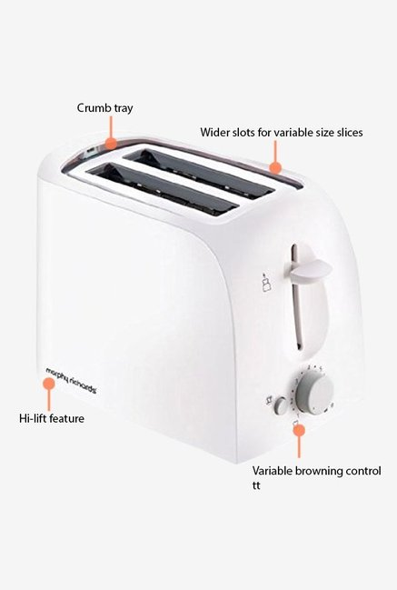 Morphy Richards AT-201 Pop Up Toaster White