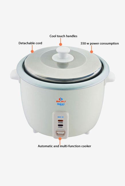 Bajaj Majesty 1.8 L RCX 18 Rice Cooker White