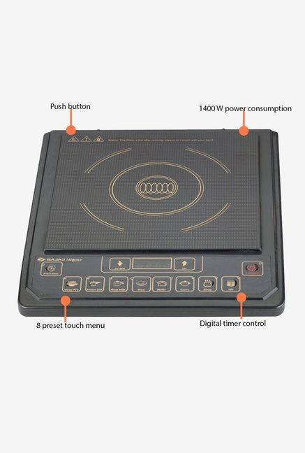 Bajaj Majesty 1400W ICX 3 Induction Cooktop Black