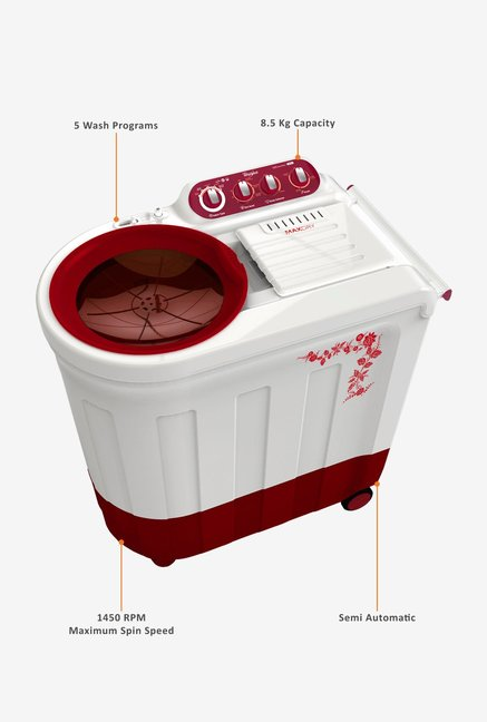 Whirlpool Ace 8.5 Turbodry Washing Machine Red
