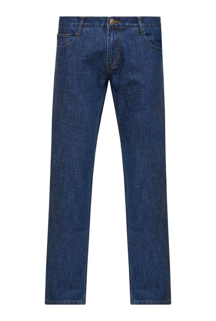 Zudio Blue Lightly Washed Jeans