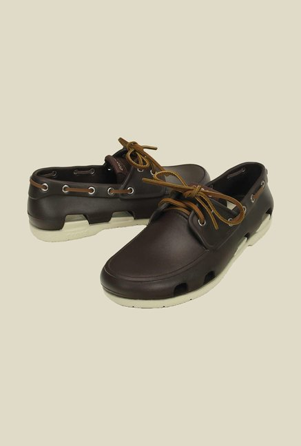 Crocs Beach Line Espresso & Stucco Loafers