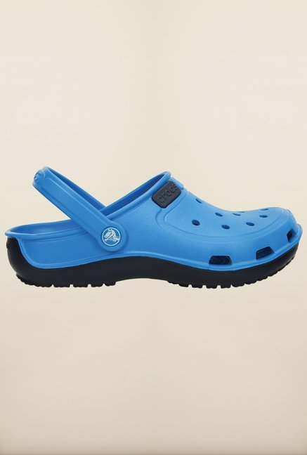 Crocs Duet Wave Ocean & Nautical Navy Clogs