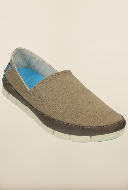 Crocs Stretch Sole Khaki & Stucco Loafers