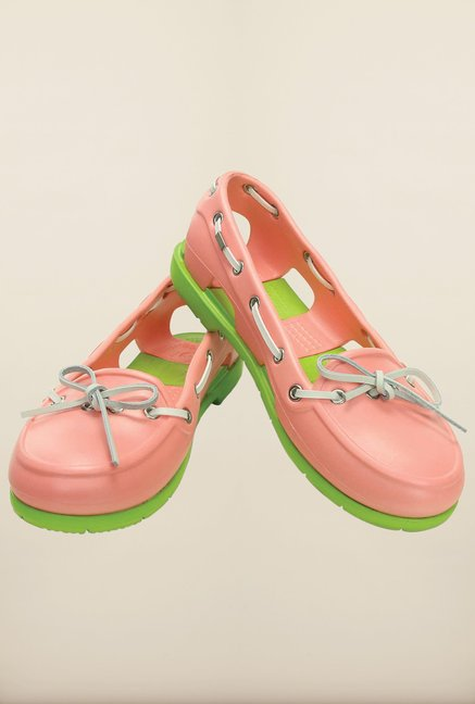 Crocs Beach Line Melon & Volt Green Shoes