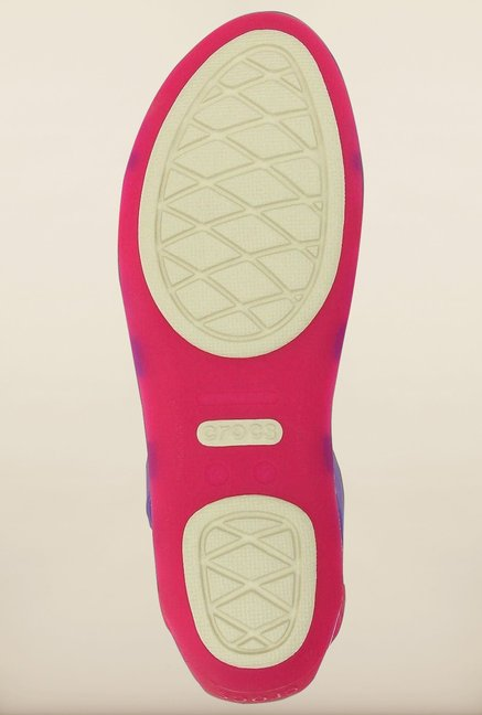 Crocs Huarache Candy Pink & Wild Orchid Cross Strap Sandals