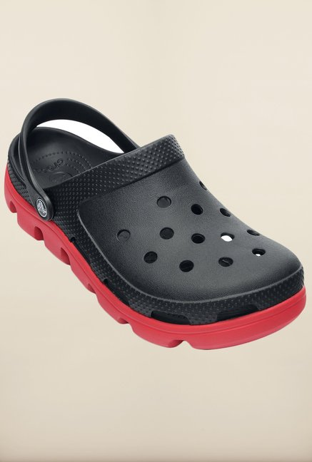 Crocs Duet Sport Black and Red Clogs