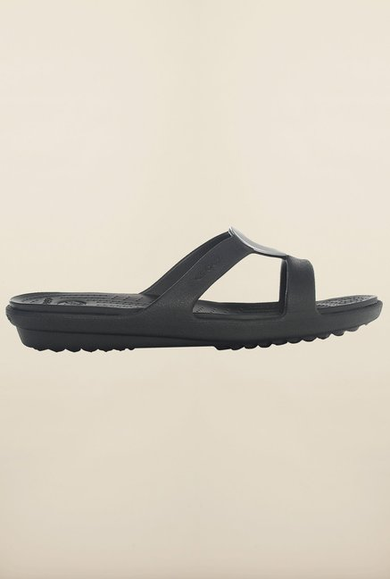 Crocs Sanrah Black Sandals