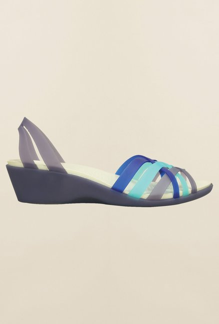 Crocs Nautical Navy & Aqua Sandals