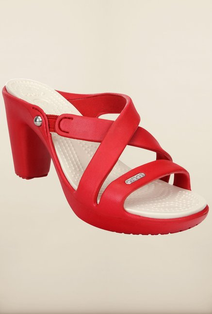 Crocs Cyprus IV Dark Red & Oyster Sandals