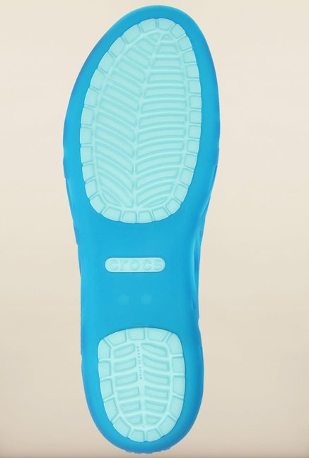 Crocs Adrina III Blue Peeptoe Sandals