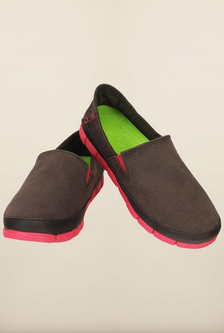 Crocs Stretch Sole Espresso & Poppy Loafers