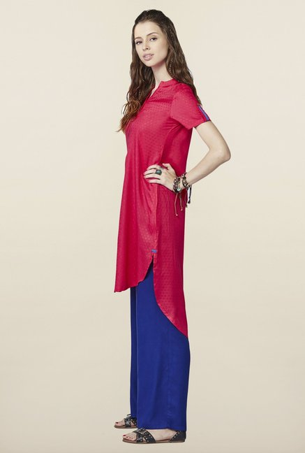 Global Desi Hot Pink High Low Tunic