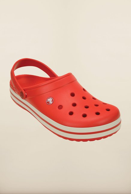 Crocs Crocband Flame Red & White Clogs
