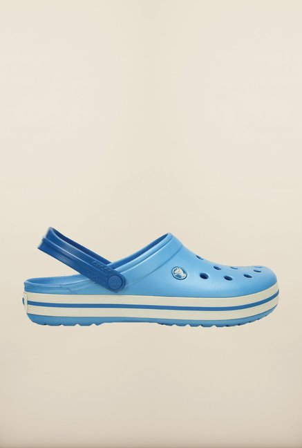 Crocs Crocband Bluebell & White Clogs