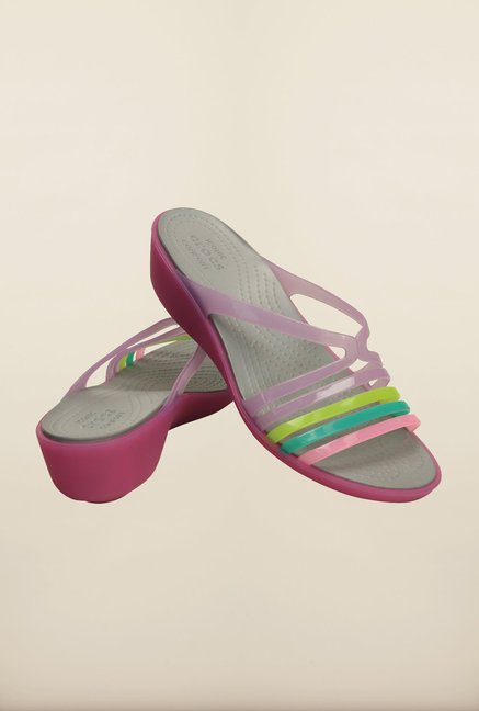 Crocs Isabella Mini Wild Orchid Wedges