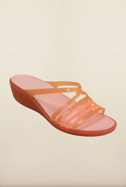 894f02edad56fe Buy Crocs Isabella Mini Coral Wedges Online at best price at TataCLiQ