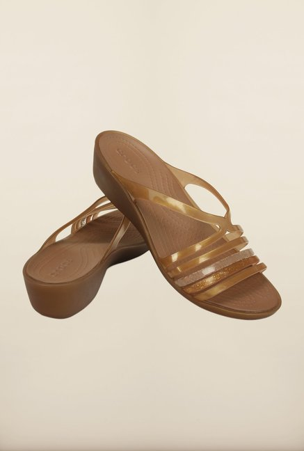 Crocs Isabella Mini Bronze Wedges