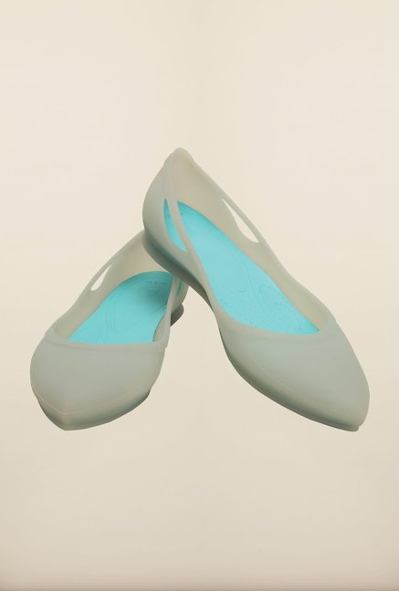 Crocs Rio Grey & Pool Blue Ballerinas