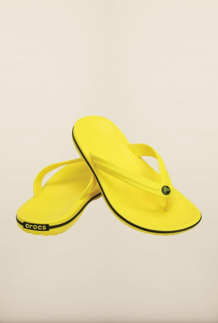 Crocs Crocband Lemon Yellow Flip Flops